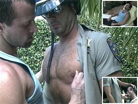Gay Military Soldiers : Biker police officer receives nude for hot homosexual sex!