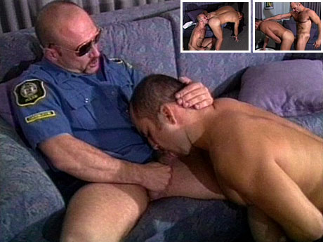 Gay Military Soldiers : hairy guy policeman sucks fellow and bonks his butt!