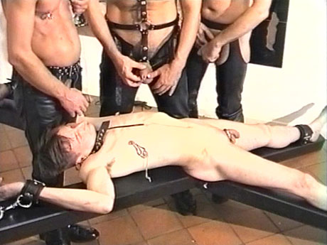 Gay Fetish Sex : homosexual thrall gets this from 3 masters!
