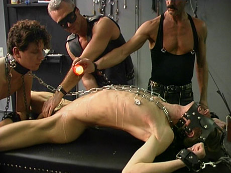 Gay Fetish Sex : Chains, wax, wanking and toys!