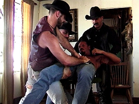 Gay Bears Hairy : Beaten cowboy acquires without clothes and crammed by bears!