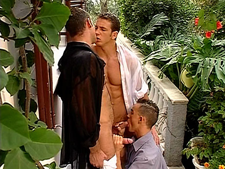 Gay Muscle Men : Worthwhile day for lads 3-way!